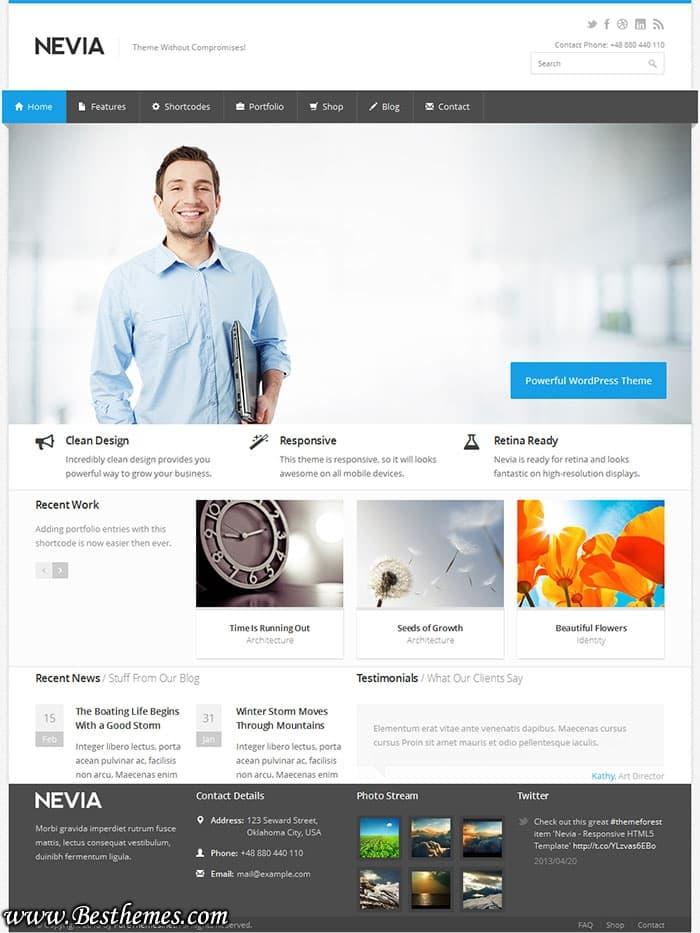 Nevia WordPress Theme, Download Nevia WordPress Template, Best Multipurpose Responsive Themes, Best Portfolio WordPress themes, Best Business WordPress Themes