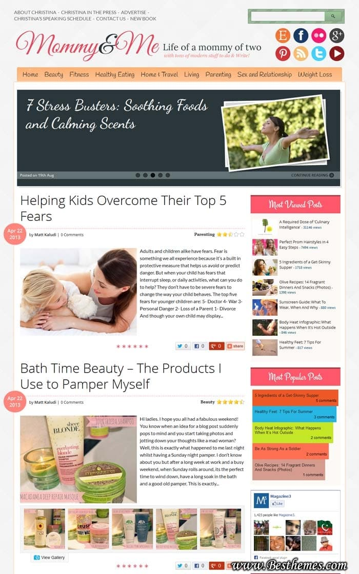Mommy&Me WordPress Theme, Download Mommy&Me WordPress Template, Responsive Parenting Blog, Best Parenting WordPress Theme