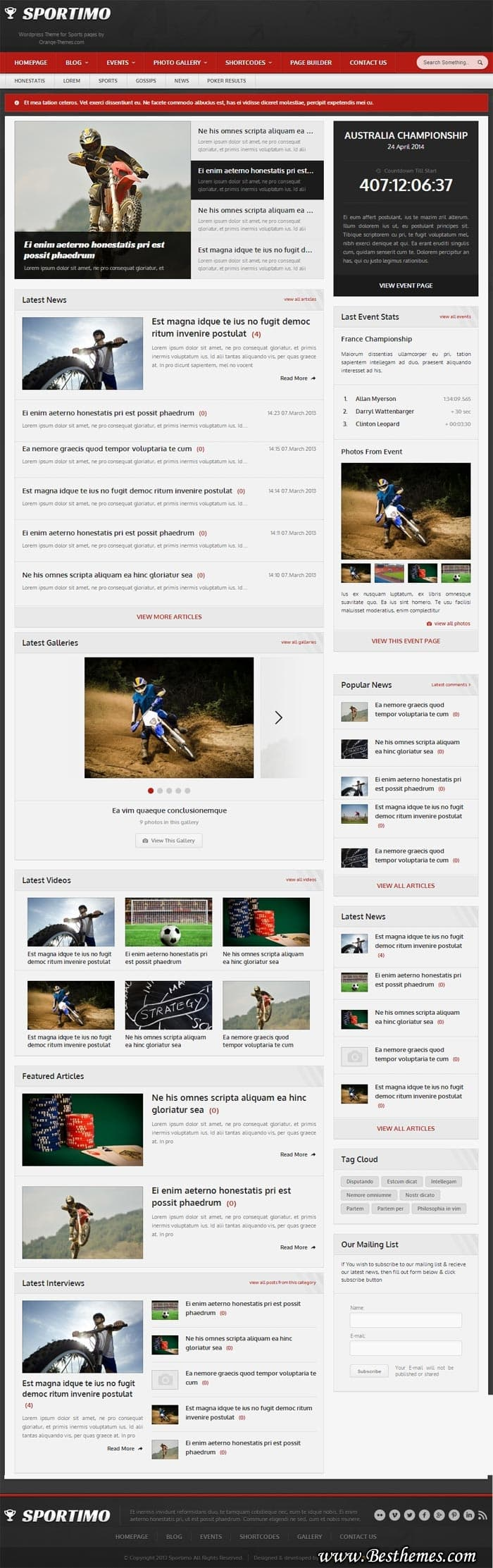 Sportimo WordPress Theme, best magazine WordPress theme, responsive magazine WordPress theme, best event magazine WordPress theme
