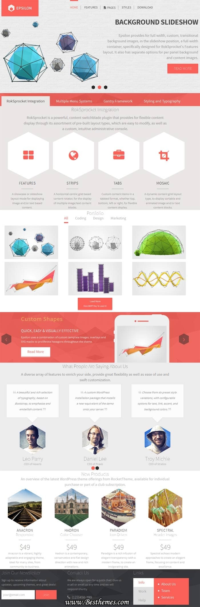 Epsilon WordPress Theme - Rocket Theme