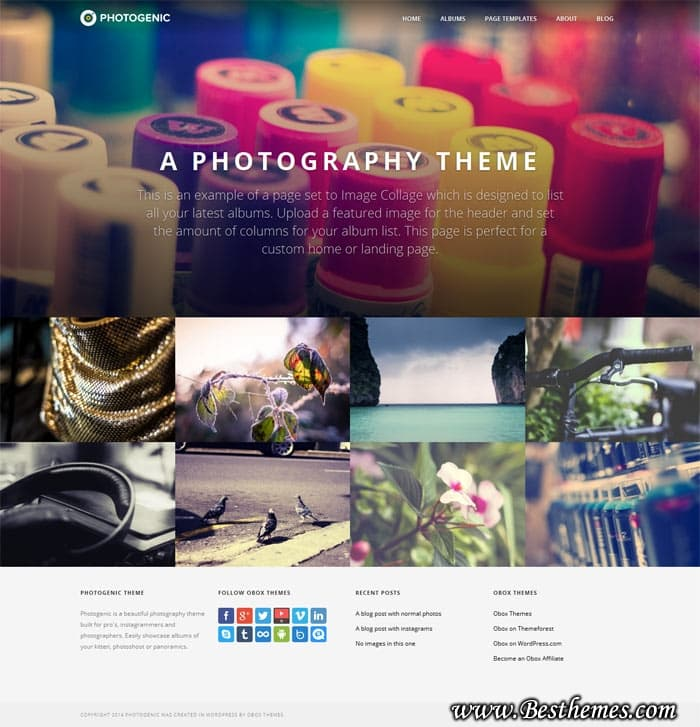 Photogenic WordPress Theme - Obox Design