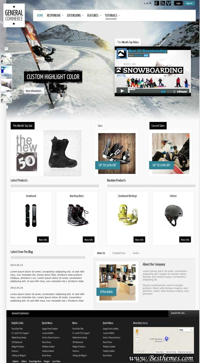 General Commerce WordPress Theme - Shape5
