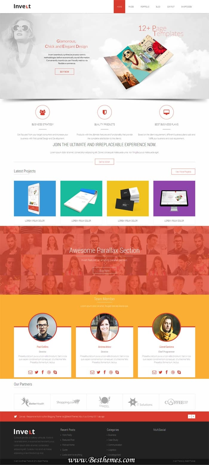 Invert-WordPress-Theme