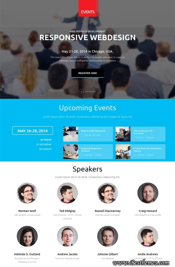 Events WordPress Theme, Gavickpro WordPress Theme, Conference WordPress Theme