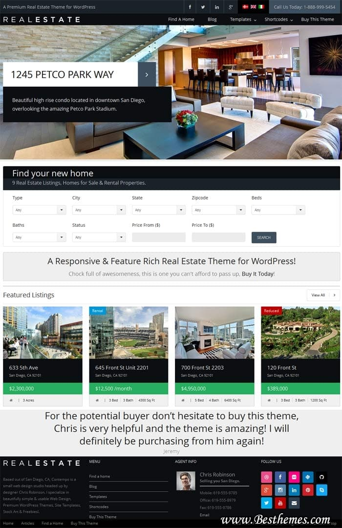 WP Pro Real Estate WordPress Theme - ThemeForest