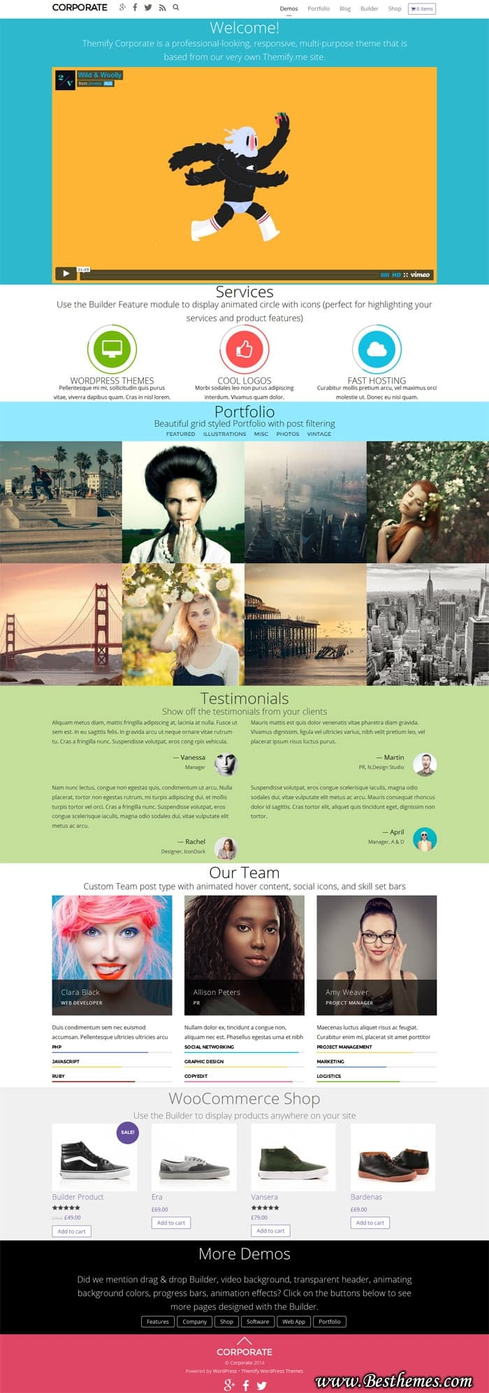 Corporate WordPress Theme - Themify